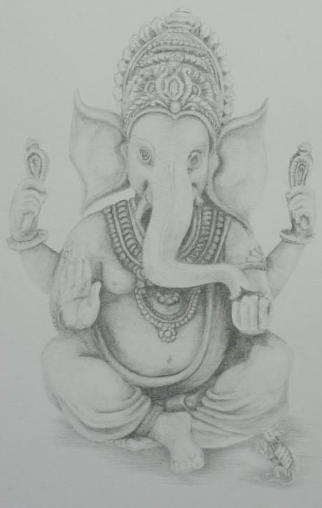 Nice Ganpati Pencil Sketch Simple Ganpati Sketch Gallery (61+ Images) Photos