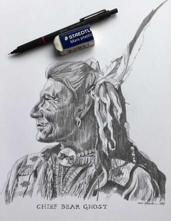 Nice Ghost Pencil Drawing Easy Chief Bear Ghost Pencil Sketch | Drawn With A Rotring Rapidp… | Flickr Pics