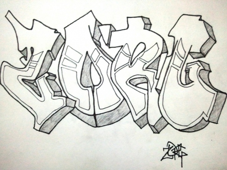 Nice Graffiti Pencil Drawing Step by Step Graffiti Pencil Drawing At Paintingvalley | Explore Collection Images