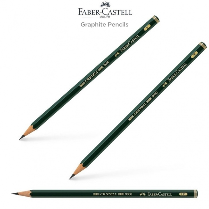 Nice Graphite Pencils Lightest To Darkest Courses Faber-Castell 9000 Graphite Pencils - Jerry's Artarama Image