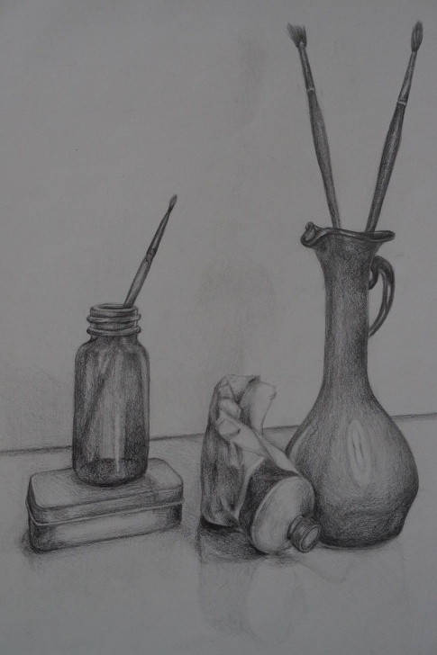 Nice Graphite Still Life Tutorial Graphite Still Life (15X17) : Drawing Pictures