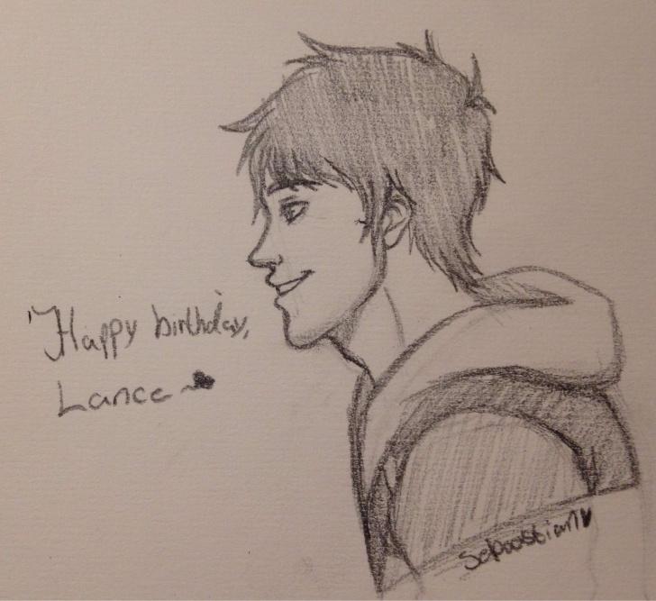 Nice Happy Birthday Pencil Drawing Free Happy Birthday, Lance. - Pencil Sketch | Voltron Amino Images