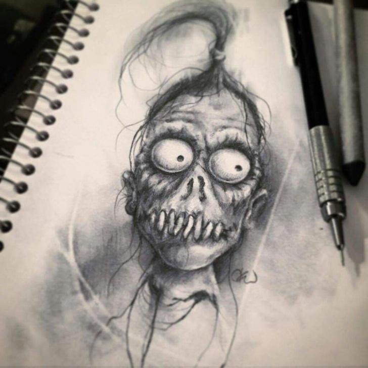 Nice Horror Pencil Drawings Easy Creepy Pencil Drawings And Awesome Creepy Drawings | Horror Amino Photo