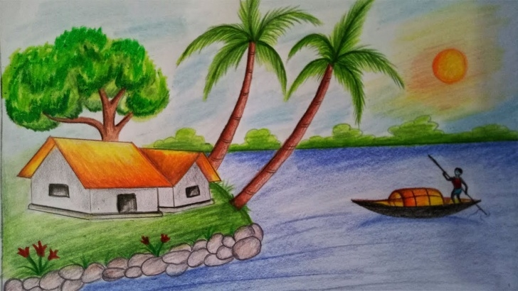 Nice Images For Drawing Natural Scenary Lessons Natural Scenery Drawing Step By Step And Scenery Easy Drawing Pics