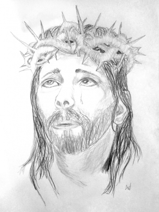 Nice Jesus Pencil Drawing for Beginners Pencil Drawing Of Jesus Christ. | My Creations | Pencil Drawings Images