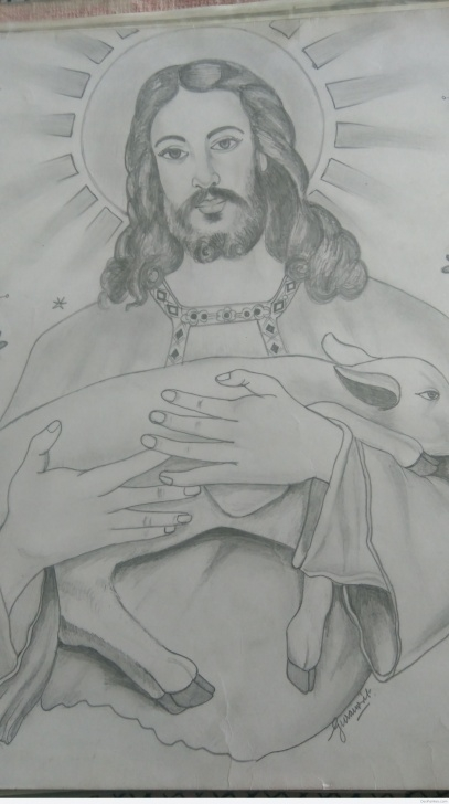 Nice Jesus Pencil Drawing Step by Step Great Pencil Sketch Of Jesus Christ | Desipainters Photo