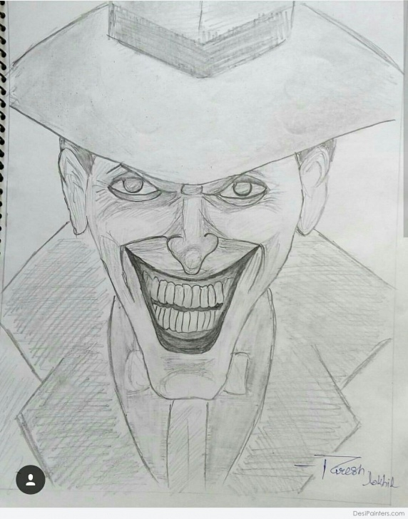 Nice Joker Pencil Drawing Tutorial Pencil Sketch Of Joker | Desipainters Photos