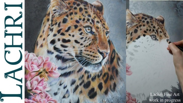 Nice Lachri Fine Art Colored Pencil Step by Step Roses And Leopard Colored Pencil Tutorial W/ Lachri | Techniques Photo