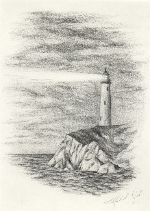 Nice Lighthouse Pencil Drawing for Beginners Pencil Drawing | Drawings | Drawings, Landscape Pencil Drawings Pictures