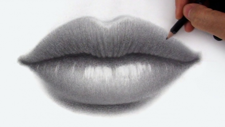 Lips Pencil Drawing