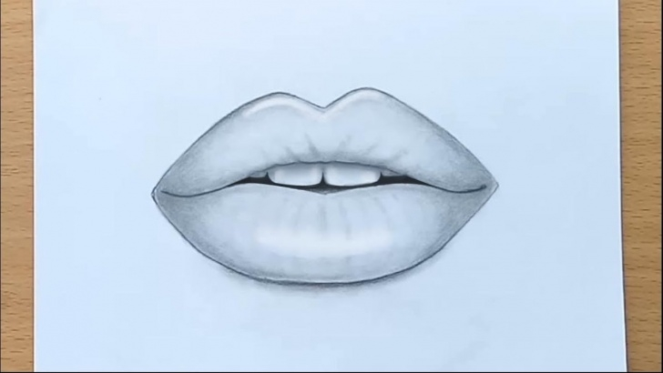 Nice Lips Pencil Drawing for Beginners How To Draw Lips By Pencil Step By Step Picture
