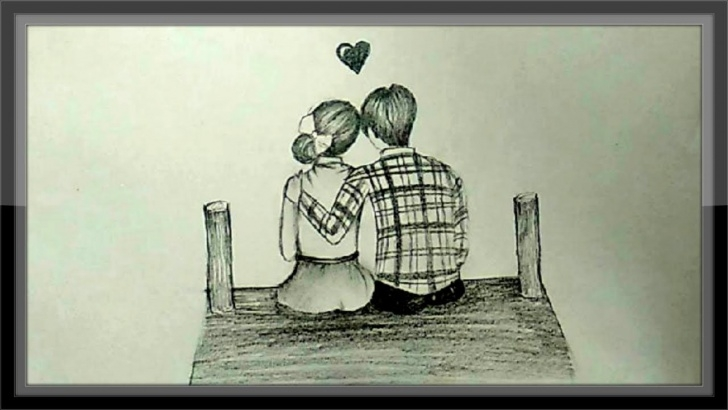 Nice Love Couple Pencil Drawing Lessons Cute Love Drawings Of Romantic Couple In Pencil Pencil Photo