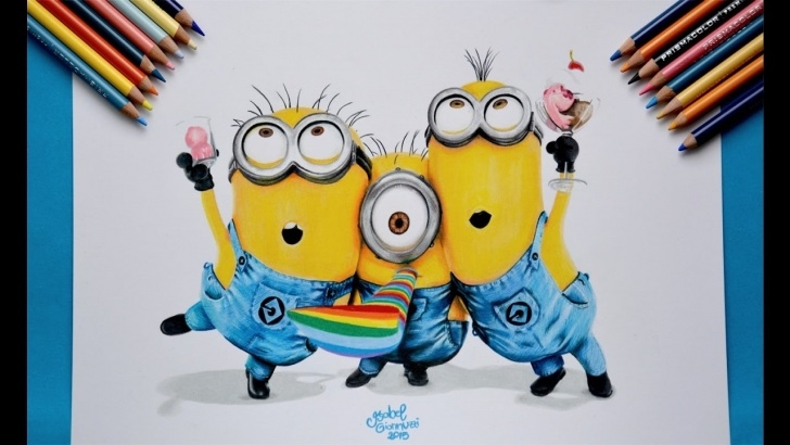 Nice Minions Pencil Drawing for Beginners Minions Drawing, Pencil, Sketch, Colorful, Realistic Art Images Photo