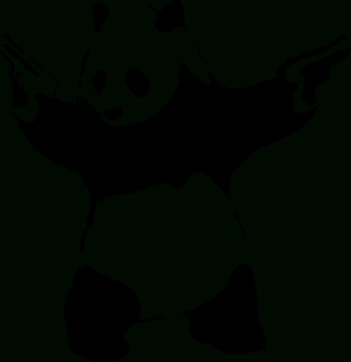 Panda Graffiti Stencil
