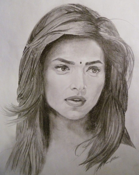 Nice Pencil Art Girl Face Step by Step Pencil Sketch Of Girl At Paintingvalley | Explore Collection Of Images