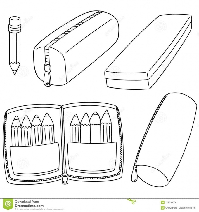 Nice Pencil Case Drawing for Beginners Vector Set Of Pencil Case Stock Vector. Illustration Of Image Pictures