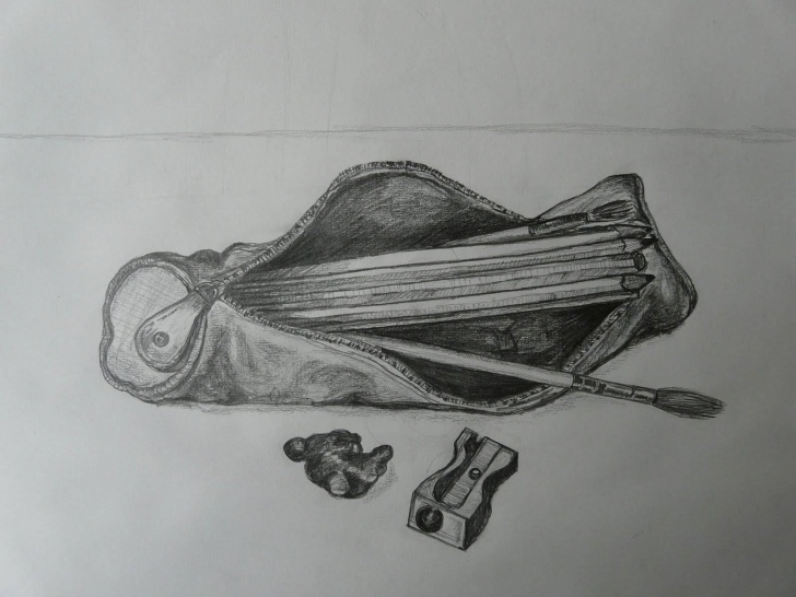 Nice Pencil Case Drawing Free Drawing Pencil Case - Google Search | Junior Cert Drawing Exam In Picture