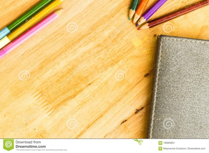 Nice Pencil Drawing On Wood Tutorials Coloured Pencils And Drawing Book On Wooden Table Stock Image Picture