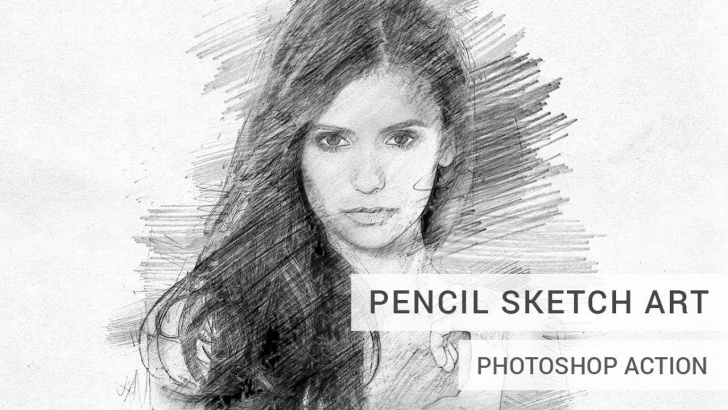 Nice Pencil Drawing Photoshop for Beginners Pencil Sketch Art Photoshop Action Tutorial Pic