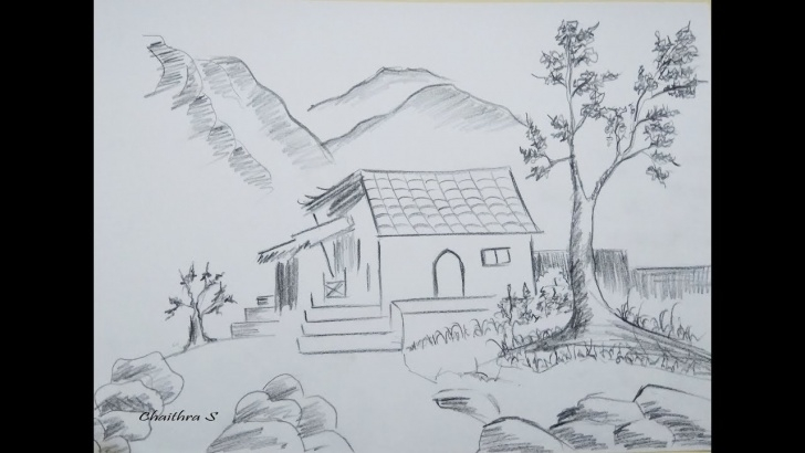 Nice Pencil Shading Of Nature Courses Pencil Shading For Beginners/ How To Draw Scenery /nature Drawing For  Beginners Picture