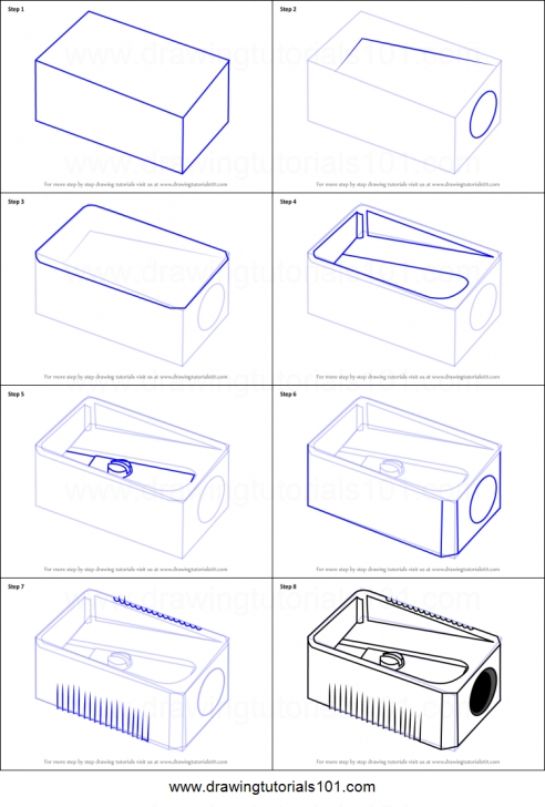 Nice Pencil Sharpener Drawing Step by Step How To Draw Pencil Sharpener Printable Step By Step Drawing Sheet Pic