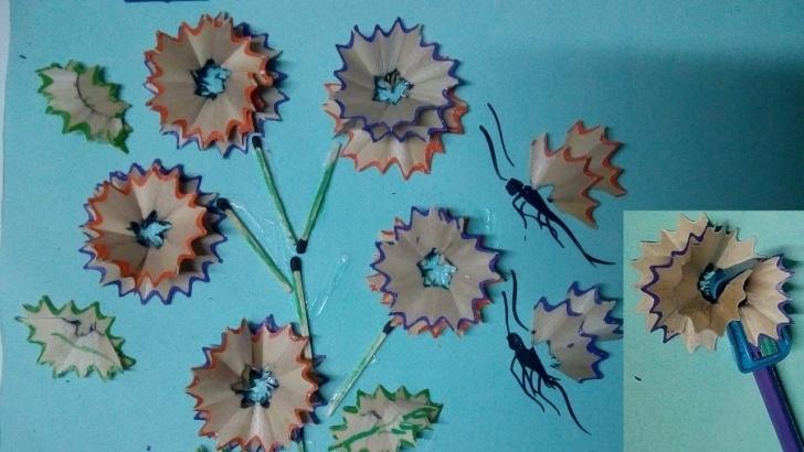 Nice Pencil Shaving Art Courses Flower Making- Pencil Shaving Art Pics