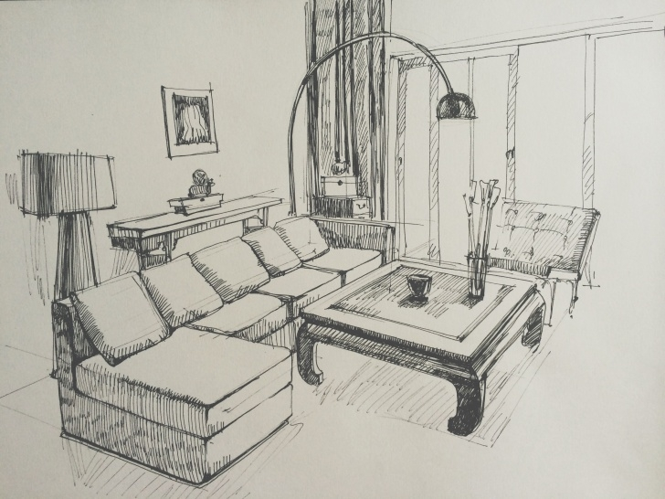 Nice Pencil Sketch Of A Bedroom Techniques for Beginners Living Room Sketch | Interior Sketches In 2019 | Interior Design Image