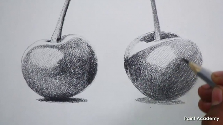 Nice Pencil Sketch Of Fruits Free How To Sketch Cherry Fruits In Pencil Step By Step Pic
