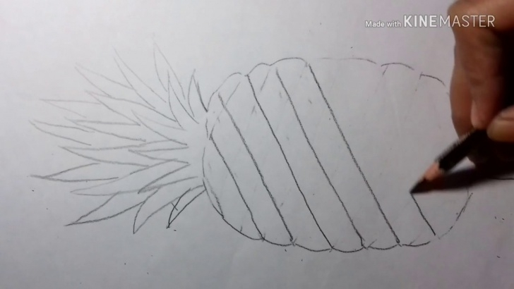 Nice Pineapple Pencil Drawing Lessons How To Draw A Pineapple Easily // Pencil Drawing Pic