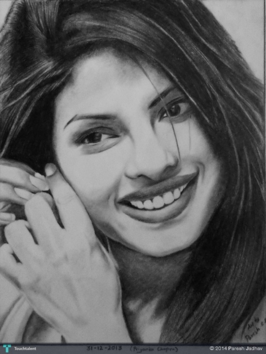 Nice Priyanka Chopra Pencil Sketch Free Priyanka Chopra Pencil Sketch | Touchtalent - For Everything Creative Pictures