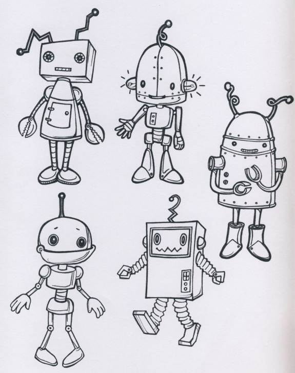 Nice Robot Pencil Drawing Step by Step Pencil Sketch Of Robot And Robot Drawing, Pencil, Sketch, Colorful Photo