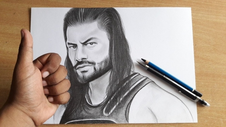 Roman Reigns Pencil Drawing