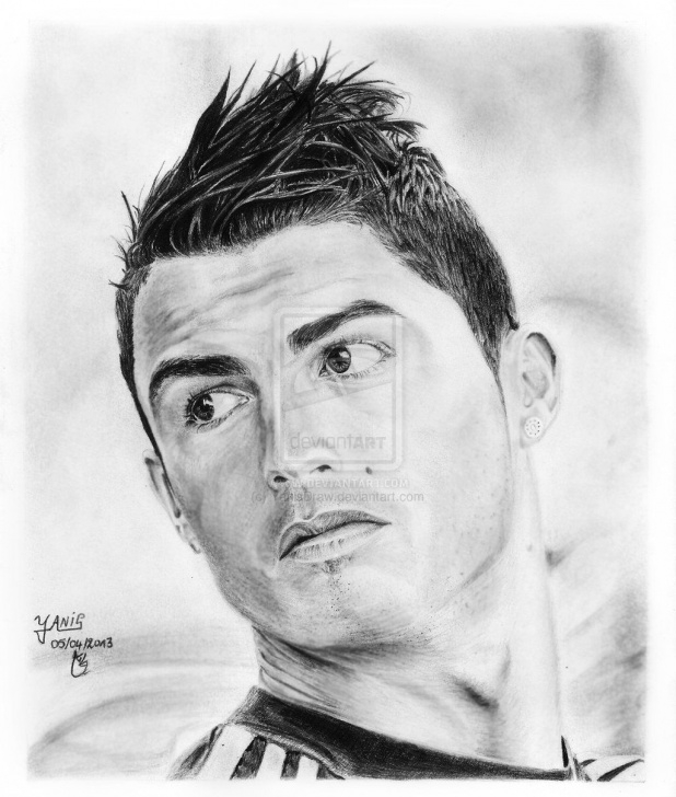 Ronaldo Pencil Drawing