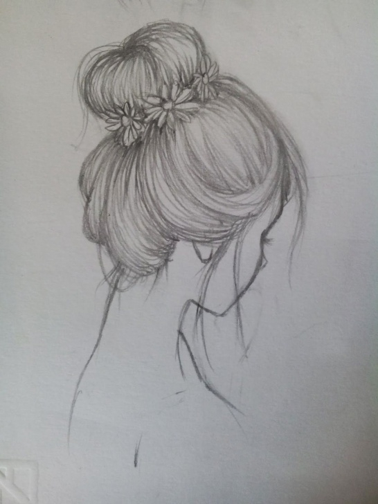Nice Simple Pencil Art Drawings Free Pencil Drawing Artwork | Sketch Simple | Drawings, How To Draw Hair Pic