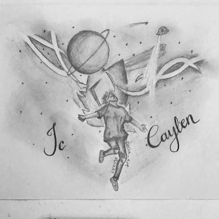 Nice Space Pencil Drawing Step by Step Jc Caylen Space Pencil Drawing(Based Off One Of His Pictures Pics