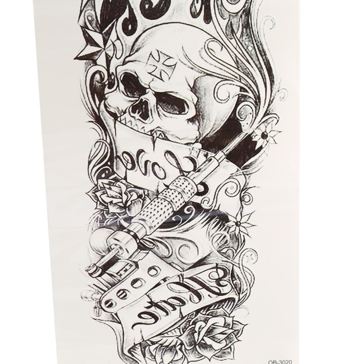 Nice Stencil Art 3D Simple Details About Large Full Arm Sleeve Temporary Tattoo Stencil Sticker Body  Art 3D Removable Pics