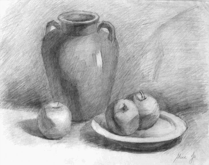 Nice Still Life Pencil Drawing Tutorial Still Life Pencil Drawing At Paintingvalley | Explore Collection Image