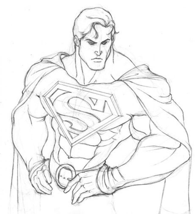 Nice Superman Pencil Sketch Easy Easy Superman Drawings Sketches Another Superman By | Nose In 2019 Picture