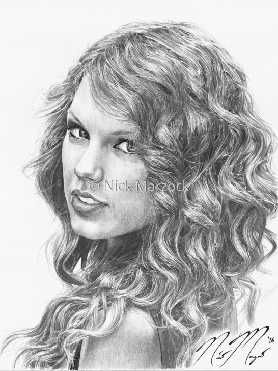 Nice Taylor Swift Pencil Sketch Simple Portrait Pencil Drawings: Limited Edition Print Of Taylor Swift By Photo
