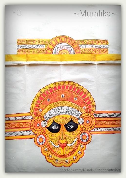 Nice Theyyam Pencil Drawing Tutorials Kerala Folk Dance 'theyyam' .saree Blouse Back And Sleeve Design Photos