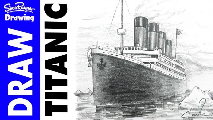 Nice Titanic Pencil Drawing for Beginners How To Draw The Titanic In Pencil Pic