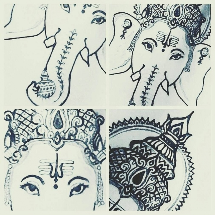 Nice Vinayagar Pencil Sketch Step by Step My Drawing Of Lord Ganesha! #art #sketch #drawing #sathishlive Pics