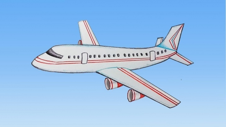 Outstanding Aeroplane Pencil Drawing Simple How To Draw Aeroplane Step By Step (Very Easy) Images