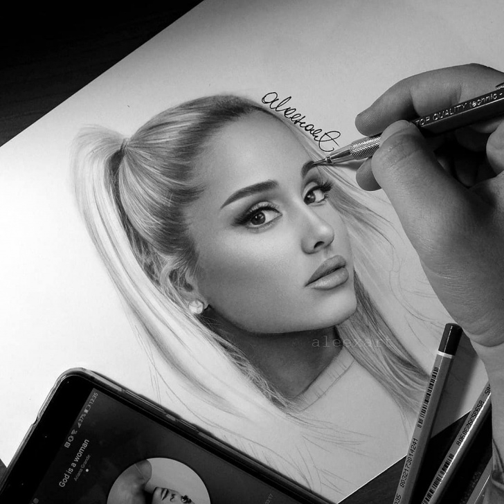 Outstanding Ariana Grande Pencil Sketch Lessons Ariana Grande Sketch At Paintingvalley | Explore Collection Of Photos