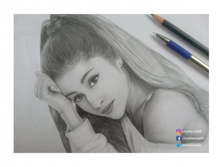 "Outstanding Ariana Grande Pencil Sketch Techniques for Beginners Shanker Raj K.r On Twitter: ""pencil Drawing ? Ariana Grande Pic"
