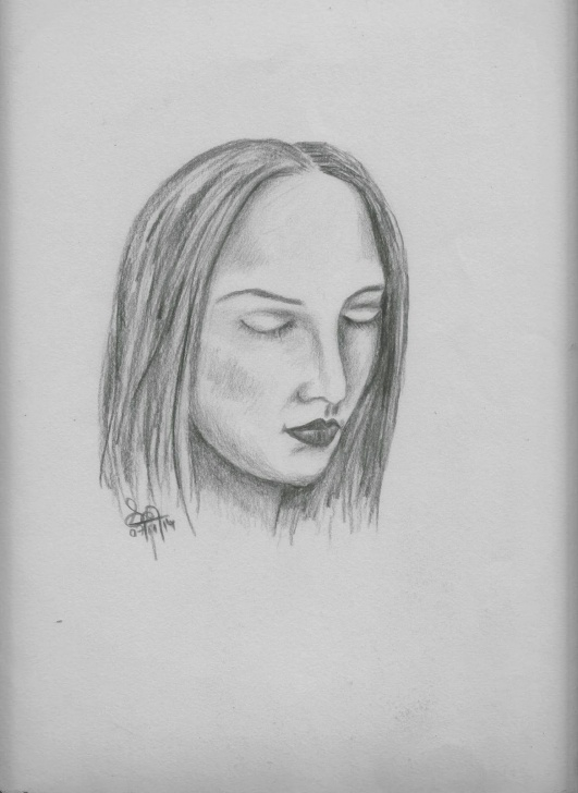 Outstanding Beautiful Face Sketch for Beginners Beautiful Pencil Sketches: Pencil Sketches Of Beautiful Faces Of Picture