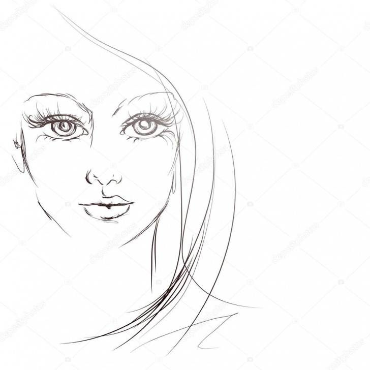 Outstanding Beautiful Girl Face Sketch Tutorials Beautiful Girl Face, Sketch, — Stock Vector © Sveta.lavrenteva.87 Pic