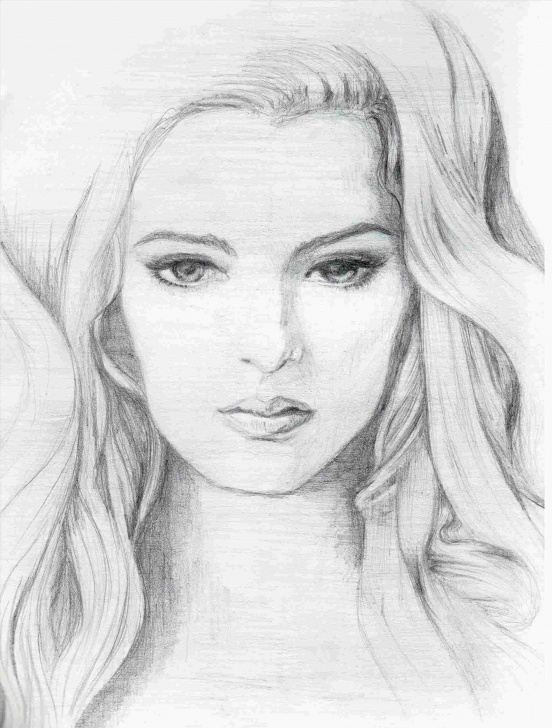 Outstanding Beautiful Girl Pencil Sketch for Beginners Pencil Sketch Of Beautiful Girl : Drawing Photo
