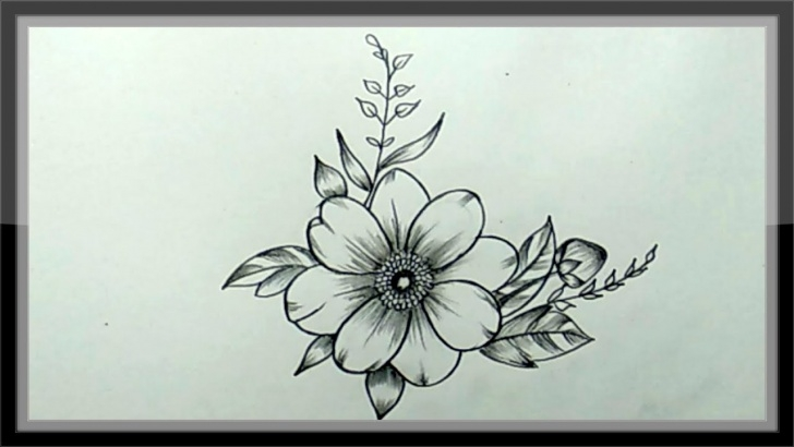 Outstanding Beautiful Pencil Drawings Of Flowers Techniques for Beginners Pencil Drawing - How To Draw A Beautiful Flower Easy Images