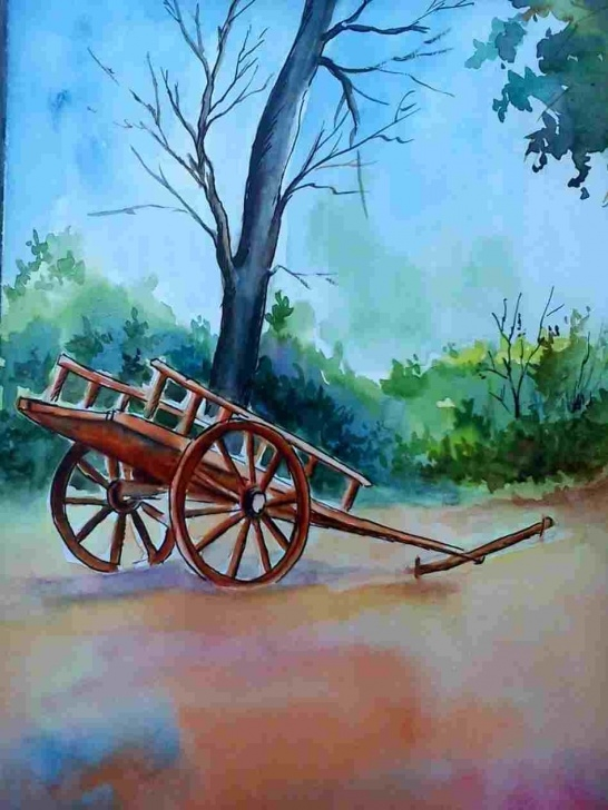 Outstanding Bullock Cart Pencil Drawing Ideas A-By-Segar-Jpg-Wikipediarhenwikipediaorg-Fileline-Bullock-Cart Photos